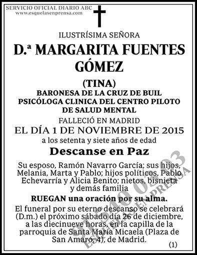 Margarita Fuentes Gómez